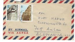 COVER CORREO AEREO PEROU - CASILLA - AALEN - ALEMANIA. - Peru