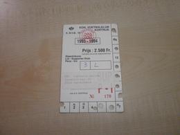 Ancien Abonnement KON.VOETBALKLUB KORTIJK 1993/1994 - Tickets - Vouchers