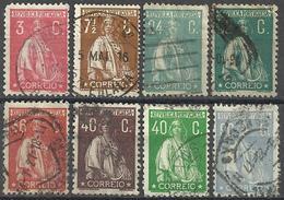 Portugal Année 1912-1930 Type Cérès 8 Val Oblitérées - 1910-... Republic