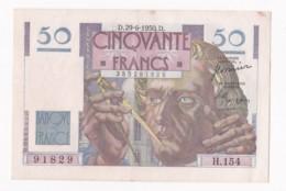 Billet 50 Francs Le Verrier Du 29 – 6 – 1950. Alph. H.154 N° 91829 , Superbe. - 1871-1952 Circulated During XXth