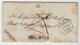 Suisse // Schweiz // Switzerland //  Préphilatélie //  Lettre Au Départ De Obelwald Via Brigue 20.07.1868 - ...-1845 Vorphilatelie