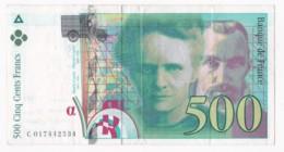 500 Francs Pierre Et Marie Curie 1994 N° C 017442534 - 1992-2000 Laatste Reeks