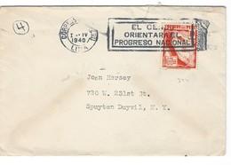 COVER CORREO AEREO PEROU - LIMA - SPUYTEN DUYVIL - NEW YORK - 1940. - Pérou