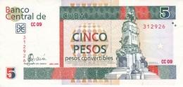 BILLETE DE CUBA DE 5 PESOS CONVERTIBLE DEL AÑO 2006 CALIDAD EBC (XF) (BANKNOTE) - Cuba
