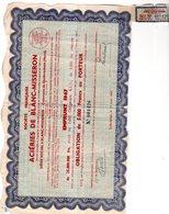 EMPRUNT 1947 SOCIETE FRANCAISE DES ACIERIES DE BLANC-MISSERON - Sonstige