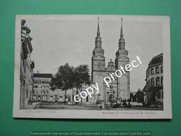 BE195 Eupen Verviers Markt Kerk En Tram - Eupen