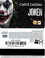 @+ Carte Cadeau - Gift Card : Fnac - Cinema - Joker - Lettres BE Au Verso - Carta Di Fedeltà E Regalo