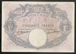 50 Francs Bleu Et Rose 1926 - 50 F 1889-1927 ''Bleu Et Rose''