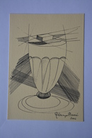 Signee Alain Barré-cuillere,verre, A Absinthe-theme Absinthe-faisant Office De Carte Double--voir Scans - Illustrators & Photographers