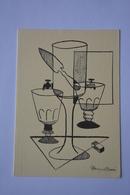 Signee Alain Barré-cuillere,verre,fontaine  A Absinthe-theme Absinthe-faisant Office De Carte Double--voir Scans - Illustrators & Photographers