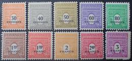 R1692/780 - 1945 - ARC De TRIOMPHE (2e Sèrie) - SERIE COMPLETE - N°702 à 711 NEUFS** - Unused Stamps