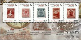 NEW ZEALAND, 2005, 150TH ANNIVERSARY FIRST STAMP, YV#B.195, SS, MNH - Blocks & Kleinbögen