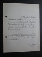 VP FAIRE PART MARIAGE S (V1811) Madeleine DEMEURE & Baron André Van Der STRATEN-WAILLET (1 Vue) St Michel & Gudule 1946 - Mariage