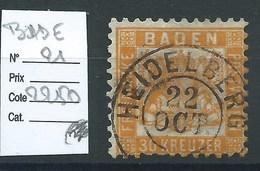 ALLEMAGNE - BADE : N° 21. Cote 2250€ - Baden