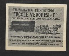 Bologna Trasporti Ercole Veronesi, Paarden Met Wagen, - Erinnophilie