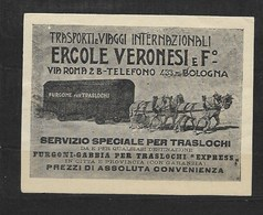 Bologna Trasporti Ercole Veronesi, Paarden Met Wagen, - Erinnofilia