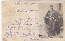 Costume Cretois - Ganzache Mit Zusatzfrankatur - 1900        (A-145-190609) - Grecia