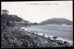 CPA ANCIENNE VIÊT-NAM- COCHINCHINE- CAP SAINT-JACQUES- LA PLAGE- VILLAS DU BORD DE MER - Vietnam