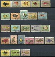 Mozambique - 1961 - Série Yt 387/410 Complète - Poissons - Oblitérés - Mozambique