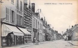 51 - DORMANS : Place De Luxembourg ( Commerces Imprimerie ) CPA Village ( 2.900 Habitants) - Marne - Dormans