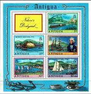 Black19-010 MINT ¤ ANTIGUA 1975 BLOCK ¤ VOILIERS - ZEILSCHEPEN - SHIPS - - Maritiem