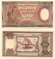Indonesia - 500 Rupiah 1958 P. 60 XF- Lemberg-Zp - Indonesien