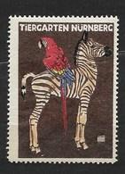 Nürnberg Tiergarten, Zebra, Papegaai - Erinnophilie