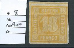 ALLEMAGNE - BAVIERE : N° 8 Neuf. Cote 200€ - Bavaria