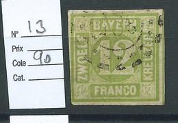 ALLEMAGNE - BAVIERE : N° 13. Cote 90€ - Bavaria