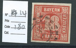 ALLEMAGNE - BAVIERE : N° 14. Cote 180€ - Bavaria