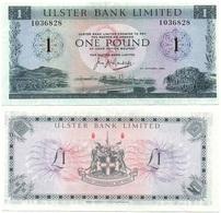 Ireland Northern - 1 Pound 1966 P. 321 Ulster Bank VF Lemberg-Zp - [ 2] Nordirland