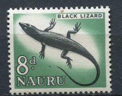 Nauru - 1963/1965 - Yt 49 - Série Courante - Black Lizard - ** - Nauru