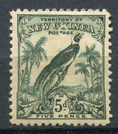 Nouvelle Guinée - 1931 - Yt 33 - Série Courante - Oiseau De Paradis - * Charnière - Papouasie-Nouvelle-Guinée