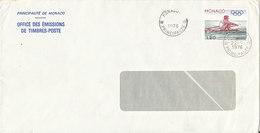 Monaco Cover Sent To Denmark 22-8-1976 Single Franked - Lettres & Documents