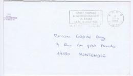 LOIRE-ATLANTIQUE - Flamme Port Payé Illustrée à Gauche LA BAULE Du 11 - 4  1988 - Sport  Culture - Marcophilie (Lettres)