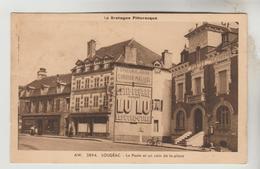 CPSM LOUDEAC (Côtes D'Armor) - La Poste Et Un Coin De La Place - Loudéac