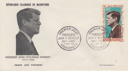 Enveloppe  FDC  1er  Jour    MAURITANIE    Président   John  KENNEDY   1964 - Kennedy (John F.)