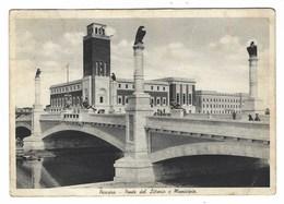 1624 - PESCARA PONTE DEL LITTORIO E MUNICIPIO 1937 ANIMATA - Pescara