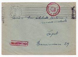 1949 YUGOSLAVIA, CROATIA, ZAGREB, OFFICIAL LETTER, RED POST MARK, CITY TELEPHONE ZAGREB - 1945-1992 Sozialistische Föderative Republik Jugoslawien