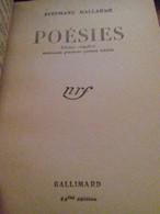 Poésies STEPHANE MALLARME Gallimard 1942 - Poetry