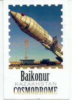 'Baikonour Cosmodrome, Kazakhstan, Postcard  Sent To Andorra With Arrival Postmark - Kazakhstan
