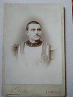 CDV Format CABINET - Portrait CUIRASSIER Du 1er Régiment, LUNÉVILLE - Photo Ad. Dirler - TBE - Guerre, Militaire