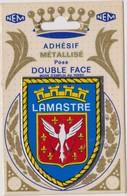 AUTOCOLLANT ADHESIF METALLISE POSE DOUBLE FACE NEM  LAMASTRE BLASON ECUSSON - Autocollants