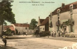 Ruffey Les Echirey...grande Rue   Cafe De La Place   En L Etat...voir Scan...usee En Bas A Gauche... - France