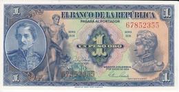 BILLETE DE COLOMBIA DE 1 PESO DE ORO DEL AÑO 1954 SIN CIRCULAR (BANK NOTE) UNCIRCULATED - Colombia
