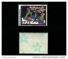 GREAT BRITAIN - 1986  CHRISTMAS  18 P.  WITH STARS  MINT NH - 1952-.... (Elisabetta II)