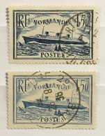"""Timbre France 1934-36 YT 299 300 (°) Obl Paquebot Normandie """"ruban Bleu"""" (côte 23 Euros) – 323f - Frankrijk"""
