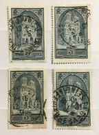 France Cathédrale De Reims (°) YT 259 Les 4 Types 259a 259b 259c 1929-31 3f Ardoise Type I II III IV (38 Euros) – 386n - Frankreich