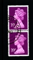 GREAT BRITAIN - 1991  MACHIN  39p.  PAIR IMPERF. TOP&BOTTOM   FINE USED  SG X1058 - 1952-.... (Elizabeth II)