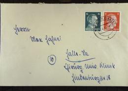 DR: Fern-Brief Mit 16 Und 8 Pf Hitler MiF Vom 1.4.44 Nach Halle (Saale) Knr: 790 Ua - Briefe U. Dokumente